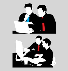 Business Work and Activity Silhouette vector image vector image