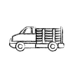 Cargo suv vehicle vector