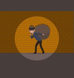 Cartoon caught a burglar wall vector