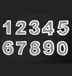 chalk number on blackboard hand drawing vector image