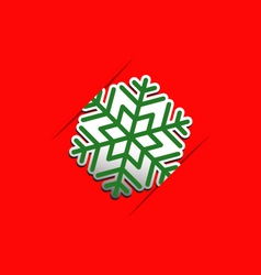 Christmas snowflake applique background vector image