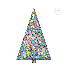 Christmas tree in modern style vector