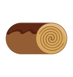 Cinamon roll bakey icon design vector