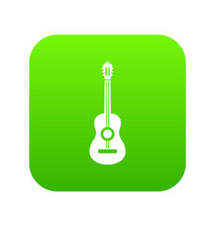 classical guitar icon digital green vector image