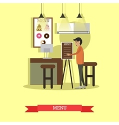 Coffee house cafe shop concept vector image