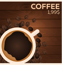 Coffee price fast food restauran menu vector