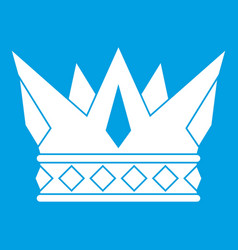 cog crown icon white vector image