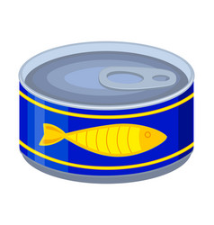 colorful cartoon canned fish vector image
