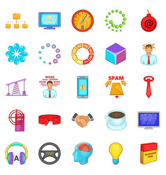 Commercialist icons set cartoon style vector
