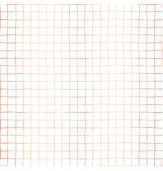 copper foil grid squares seamless pattern vector image