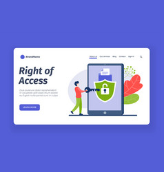 Correct access to account password and digital vector