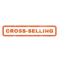Cross-Selling Rubber Stamp vector image