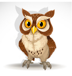 cute owl isolated on white background vector image