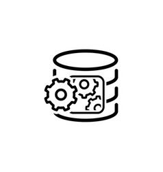 data processing icon flat design vector image