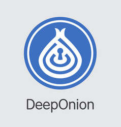 Deeponion crypto currency - pictogram vector