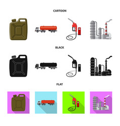 Design of oil and gas icon collection of vector