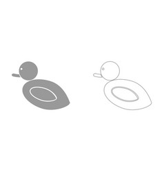 Duck it is icon vector