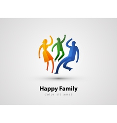 Family logo design template parents or child icon vector