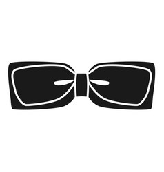 Festive bow tie icon simple style vector