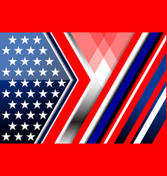Flag america backgrounds style vector