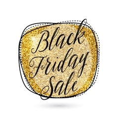 gold Black Friday Sale vector image