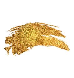 gold color paint brush stroke vector image