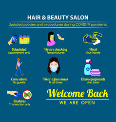 hair beauty salon new rules poster vector image
