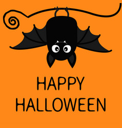 Happy halloween bat hanging cute cartoon baby vector