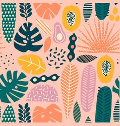 hawaiian contemporary floral tropical seamless vector image