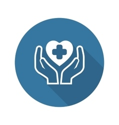 Health Care Center Icon Flat Design vector image