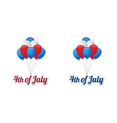 Independence day balloons vector image