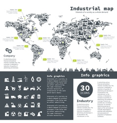 Industrial map vector image