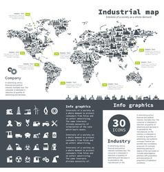 Industrial map vector