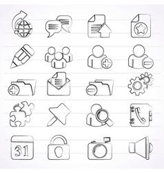 Internet blogging icons vector