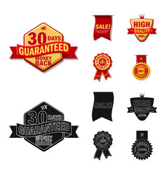 Isolated object emblem and badge sign vector