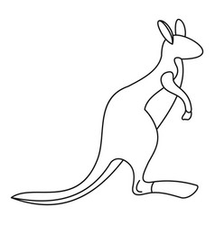 kangaroo icon outline style vector image