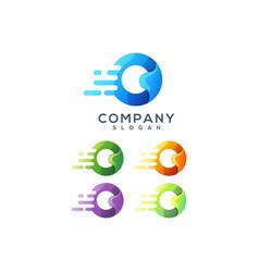 letter o logo design vector image