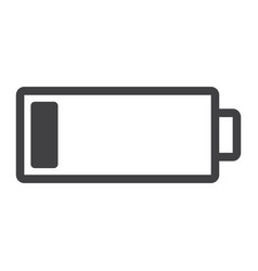 low battery line icon web and mobile energy sign vector image