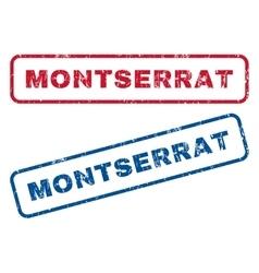 Montserrat rubber stamps vector