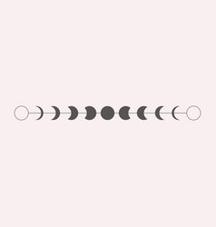 Moon phases icon border in vector