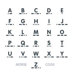 Morse code alphabet vector
