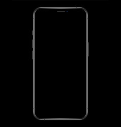 new phone with blank screen drawing isolated on vector image