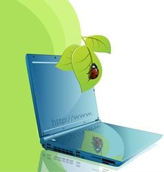notebook and ladybird vector image