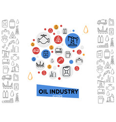 Oil industry template vector