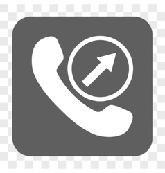 Outgoing Call Rounded Square Button vector image