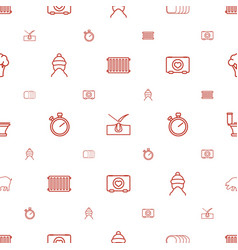 Outline icons pattern seamless white background vector