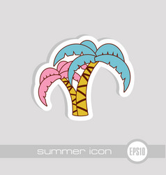 palm tree icon summer vacation vector image