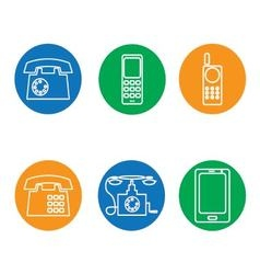 phone icons round vector image