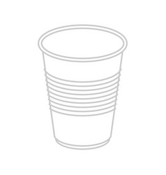 plastic cup isolated disposable dishes vector image