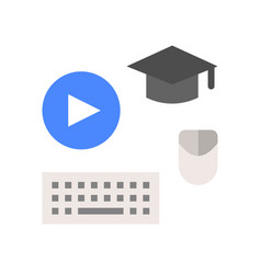 post graduate course online learning icon concept vector image